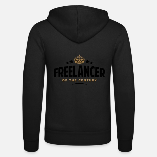 Century Hoodies & Sweatshirts - freelancer of the century funny crown st - Unisex Zip Hoodie black