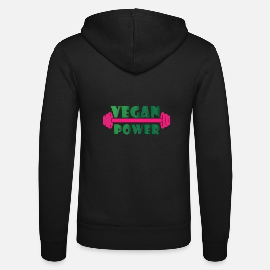 Copain Sweat-shirts - Vegan Power - musculation, gym, fitness - Veste à capuche unisexe noir