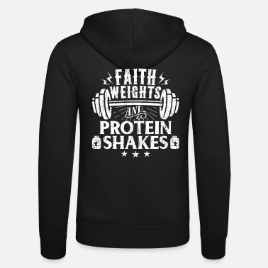 Weights Faith Weights Christian Gym Humor Exercise Workout - Unisex Zip Hoodie