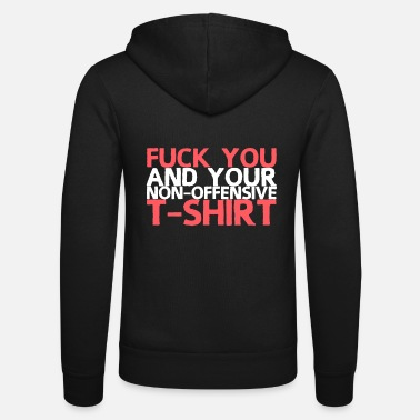 Insulting insult - Unisex Hooded Jacket by Bella + Canvas