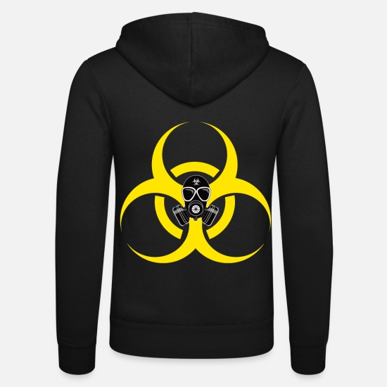 Survival Hoodies & Sweatshirts - Gas Mask Prepper Survival Survival - Unisex Zip Hoodie black