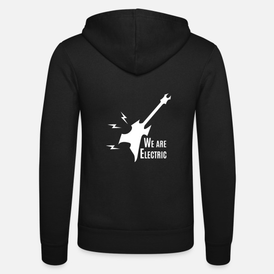 Gift Idea Hoodies & Sweatshirts - Guitar - Guitar / WE ARE ELECTRIC - Unisex Zip Hoodie black