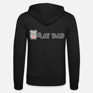 Rat Dad Cute Funny Rats Gift For Rat Lover - Unisex Zip Hoodie
