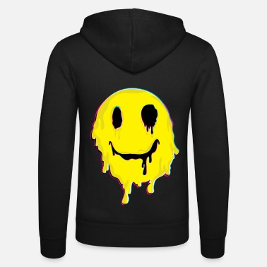 Smile Droghe Trippy MDMA Smile Face Droghe Molly - Felpa con zip unisex