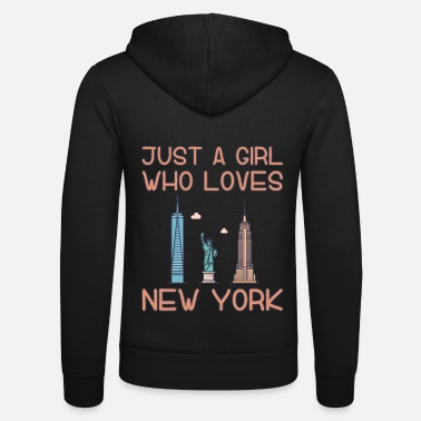 Just A Girl Who Loves New York - Unisex zip hoodie