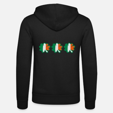 Uk Underwear ♥ټ☘Kiss the Irish Shamrocks to Get Lucky☘ټ♥ - Unisex Zip Hoodie