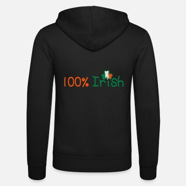 Uk Underwear ♥ټ☘Kiss Me I'm 100% Irish-Irish Rule☘ټ♥ - Unisex Zip Hoodie