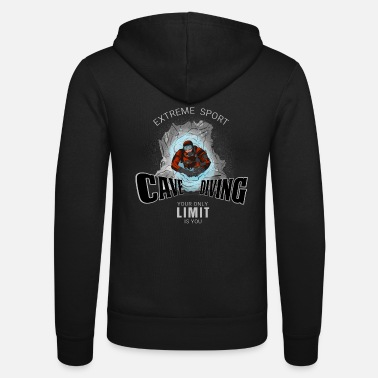 Diving Board Cave Diving - Cave Diving - Unisex Hooded Jacket by Bella + Canvas