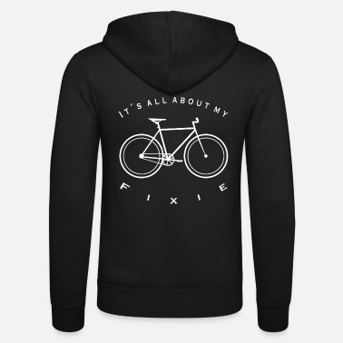 Cycling Bike Velo City It s all about Fixie - Unisex Hooded Jacket by Bella + Canvas