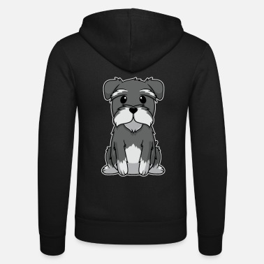 Animal Kid Dog Puppy Dwarf Schnauzer Sweet Gift - Unisex hoodie van Bella + Canvas