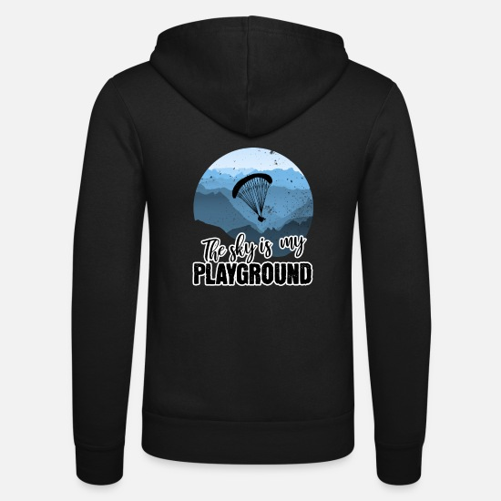 Gleitschirm Pullover & Hoodies - The sky is my playground - Unisex Kapuzenjacke Schwarz