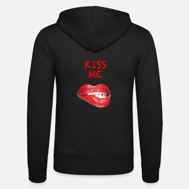 Kissing Lips Kiss Me Sexy Lips Red Lips - Unisex Bella + Canvas -hupputakki