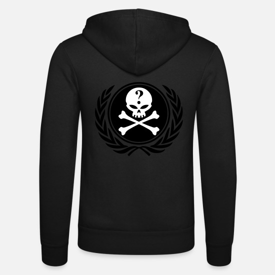 Anonymous Sweat-shirts - anonymous skull - Veste à capuche unisexe noir