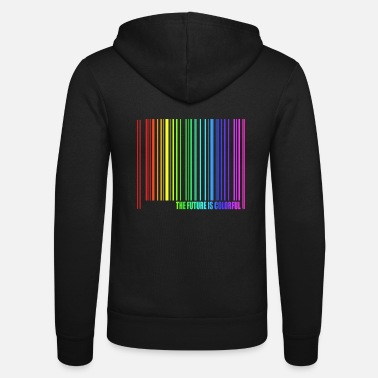 Regenbogen The Future is Colorful - Unisex Kapuzenjacke