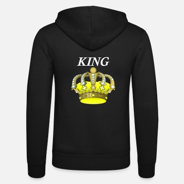 Crown The royal crown - Unisex Hooded Jacket by Bella + Canvas