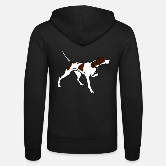 Pointer Hoodies & Sweatshirts - pointer_3_color - Unisex Zip Hoodie black