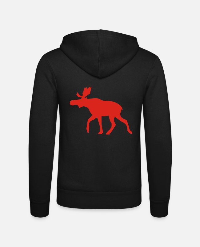 Nature Hoodies & Sweatshirts - moose - Unisex Zip Hoodie black