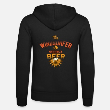 Beer This windsurfer needs a beer festival idea - Unisex Hooded Jacket by Bella + Canvas