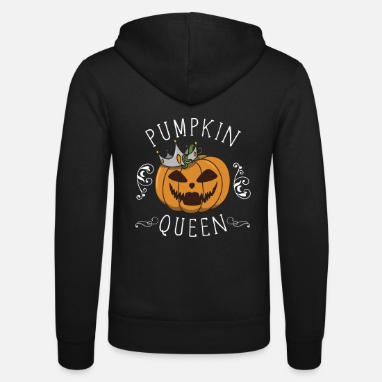 Witches Broom Hoodies & Sweatshirts - Halloween pumpkin gift costume crown funny - Unisex Zip Hoodie black