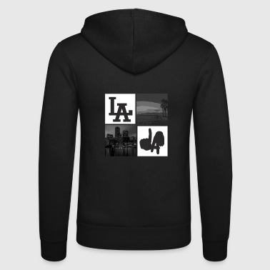 Los Angeles los Angeles - Unisex Hooded Jacket by Bella + Canvas