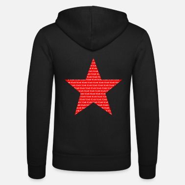 Star blah blah blah - star red - gift idea - Unisex Zip Hoodie