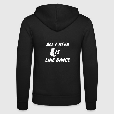 Linedancing Cool linedance sayings shirt for Line Dancer - Unisex Hooded Jacket by Bella + Canvas