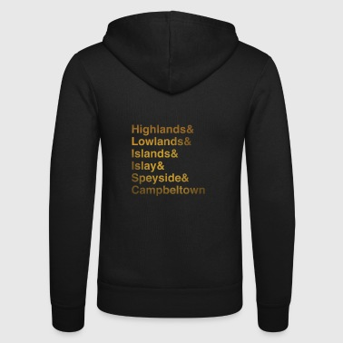 Whisky Regions - Unisex Hooded Jacket by Bella + Canvas