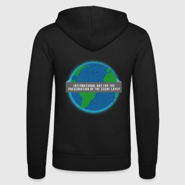 Ozone climate change memorial day rainforest environmental protection - Unisex Hooded Jacket by Bella + Canvas