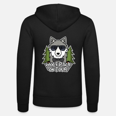 On Tour Wolfpack on tour - Unisex Zip Hoodie