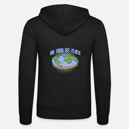 Gift Idea Hoodies & Sweatshirts - Flat earth conspiracy theory gift - Unisex Zip Hoodie black