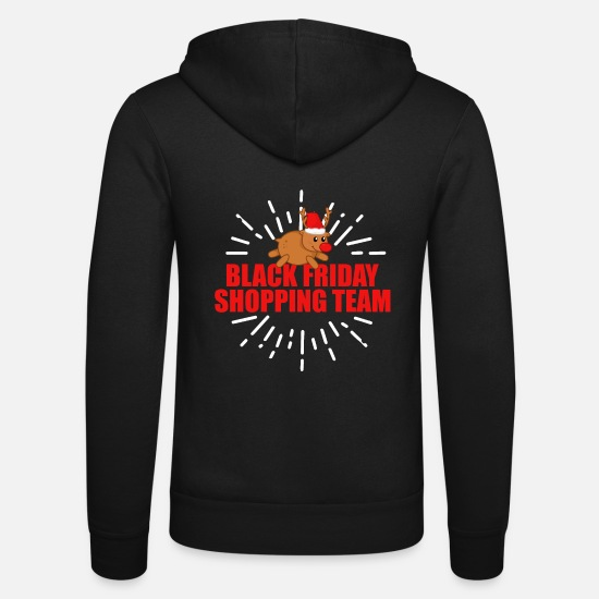 Gift Idea Hoodies & Sweatshirts - Christmas Black Friday Shopping Team - Gift - Unisex Zip Hoodie black