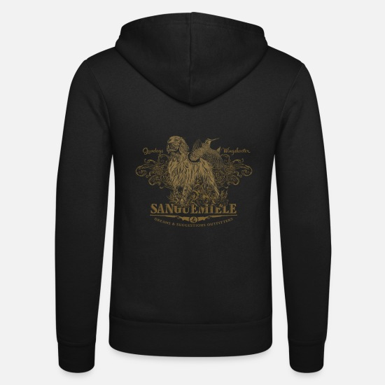 Pointer Hoodies & Sweatshirts - setter_flushing_woodcock_dark - Unisex Zip Hoodie black