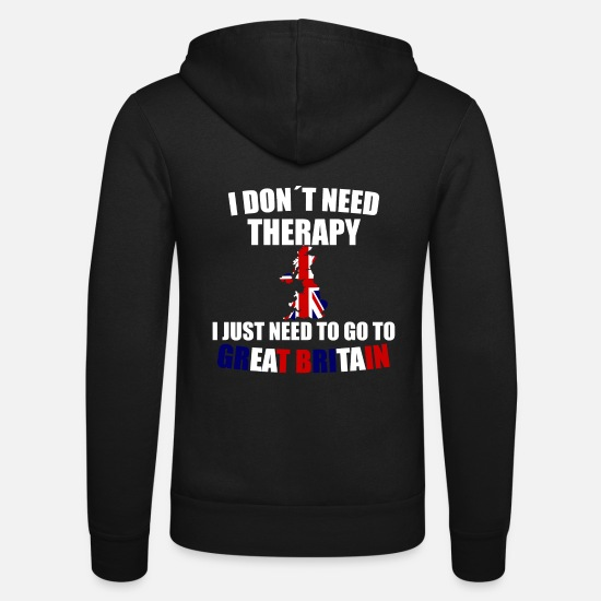 Birthday Hoodies & Sweatshirts - Great Britain - Unisex Zip Hoodie black