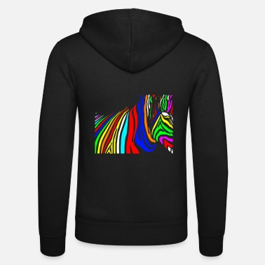 Mythical Beast Colorful zebra colorful mythical beast - Unisex Zip Hoodie
