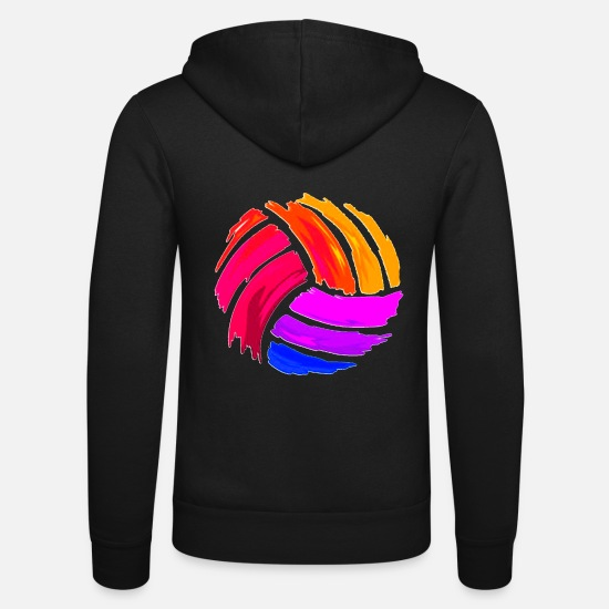 Volley Sweat-shirts - Volley-ball - Veste à capuche unisexe noir