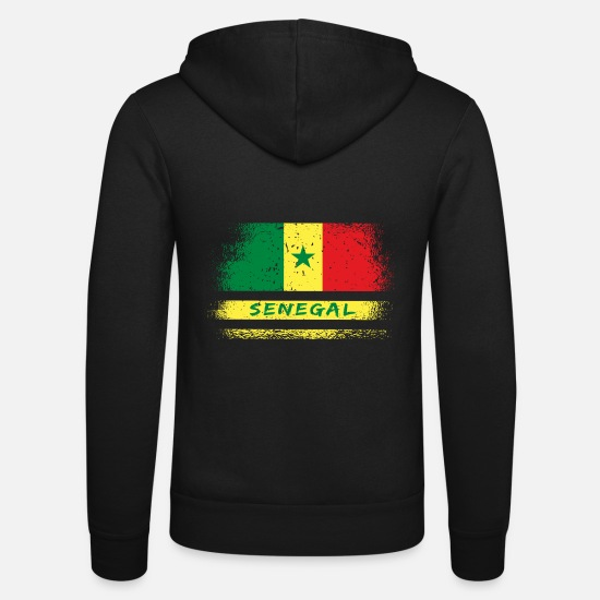 Vintage Sweat-shirts - Senegal vintage flags design - Veste à capuche unisexe noir
