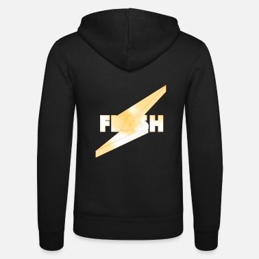 Flash 3D chrome - Felpa con zip unisex