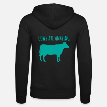 Cows Are Amazing Cool Animal Lover T-Shirt - Unisex Zip Hoodie
