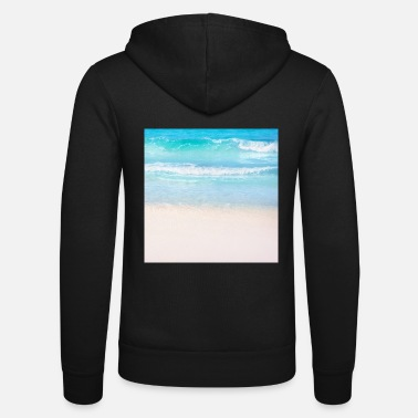 Summer Vacation Beach Vacation Neck Gator Waves Beach Photo - Unisex Zip Hoodie