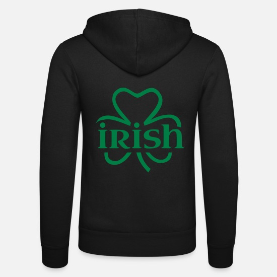 Irish Sweat-shirts - Irish Shamrock - Veste à capuche unisexe noir