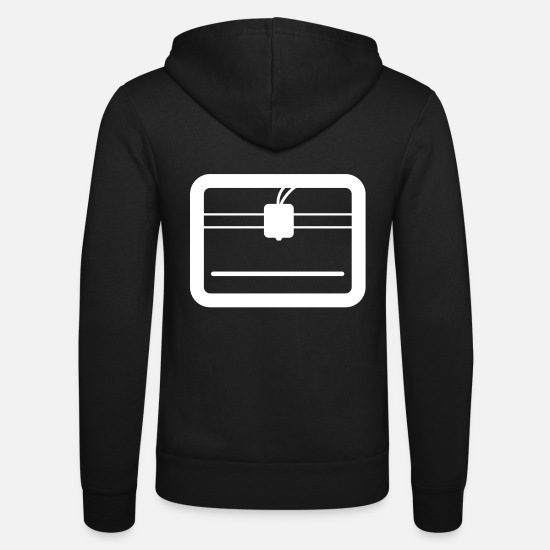 Gift Idea Hoodies & Sweatshirts - 3D printer - Unisex Zip Hoodie black
