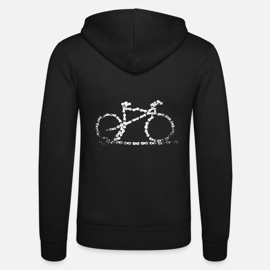 Bicycle Hoodies & Sweatshirts - bike3_large - Unisex Zip Hoodie black
