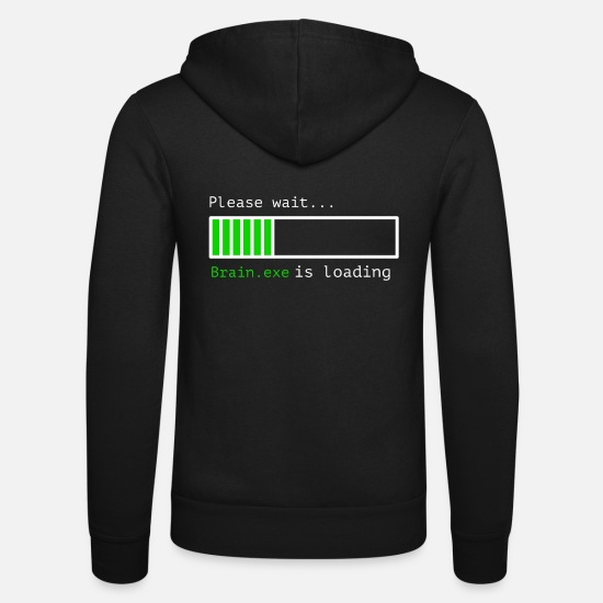 Loading Pullover & Hoodies - Brain.exe is loading - Unisex Kapuzenjacke Schwarz
