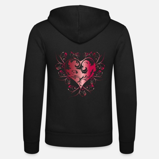 S'aimer Sweat-shirts - heart red - Veste à capuche unisexe noir