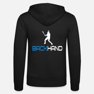 Backhand Tennis Backhand - Unisex Zip Hoodie
