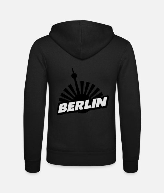 Federal Capital Hoodies & Sweatshirts - berlin - Unisex Zip Hoodie black