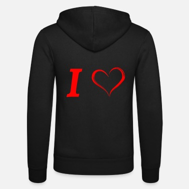 I Love I love I love in Love - Unisex Hooded Jacket by Bella + Canvas
