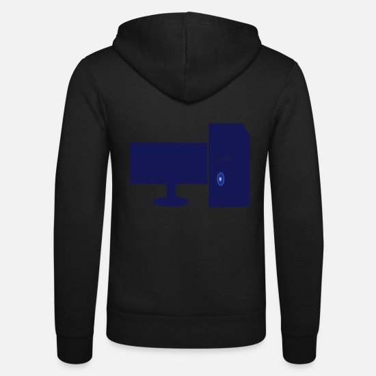 Geek Hoodies & Sweatshirts - computers - Unisex Zip Hoodie black