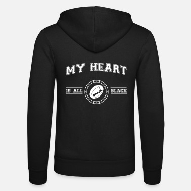 New Zealand My Heart Is All Black - Unisex Zip Hoodie
