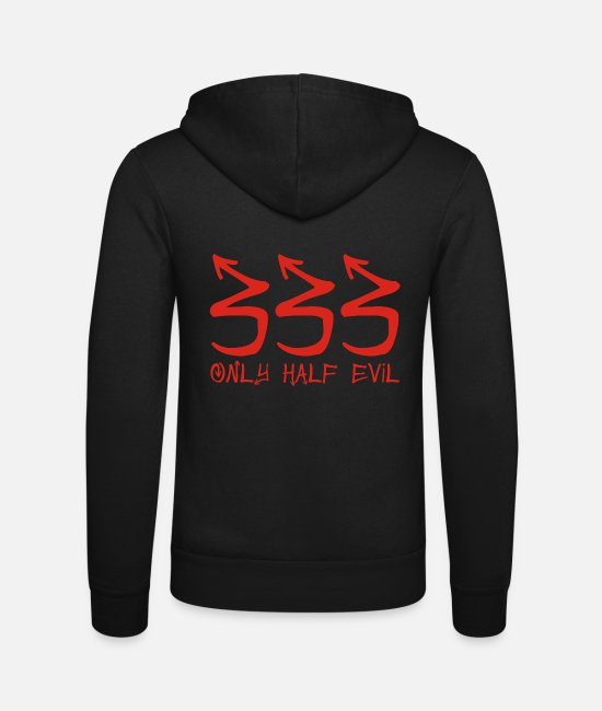 Geek Hoodies & Sweatshirts - 333 Only Half Evil - Unisex Zip Hoodie black